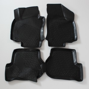 Gumové autokoberce do auta LOCKER Škoda Octavia II r. 2004-2012