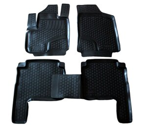 Gumové autokoberce do auta LOCKER Hyundai Santa Fe II r. 2006-2013
